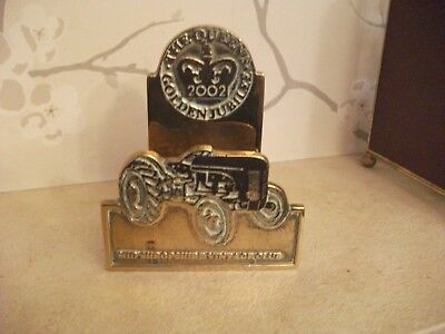 Heavy Brass Letter Rack /Traction Engine QUEENS JUBIILEE MID SHROPS.VINT.CLUb