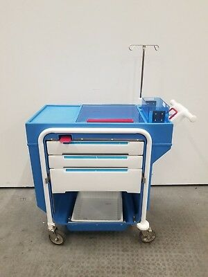 Metro Lifeline Emergency Crash Cart with IV Pole