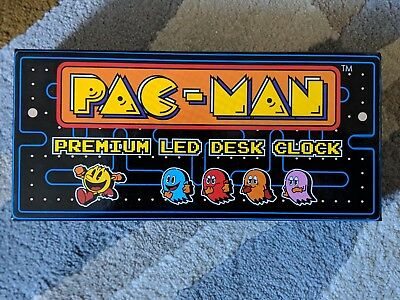 PAC Man Premium Led Clock by Raw Thrills - Mint Condition with Box and Cloth