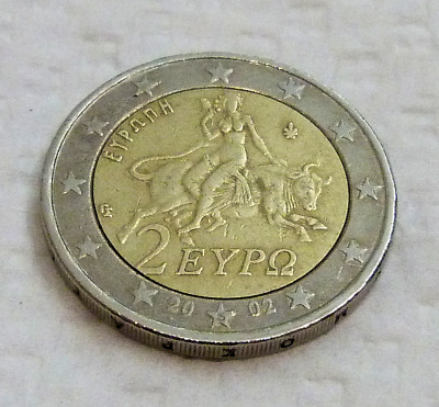 2 Euro Greek Collectible Coin With *s*