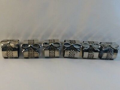 Set Of 6 Silver Plated Napkin Rings
