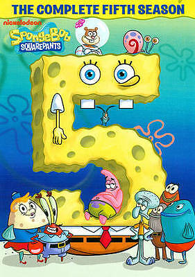 SPONGEBOB SQUAREPANTS SEASON 5 (DVD, 2012, 4-Disc Set) NEW