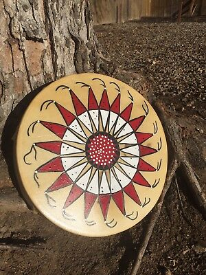 "Native American drum Warbonnet 13"" prayer drum pow wow ceremony indian"