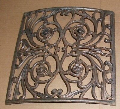 1X Antique Cast Iron CURVED Heat Register GRATE Architectural Salvage10x10 aprx.