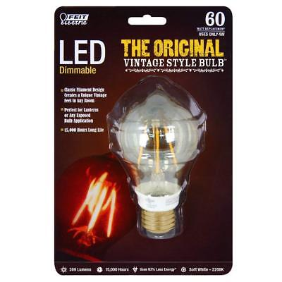 Feit Vintage Style Bulb 60W LED Dimmable Steampunk Edison