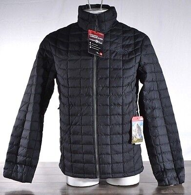 NWT The North Face Men's L Thermoball Full Zip Jacket Puffer Black/Gry T9382CQ2T