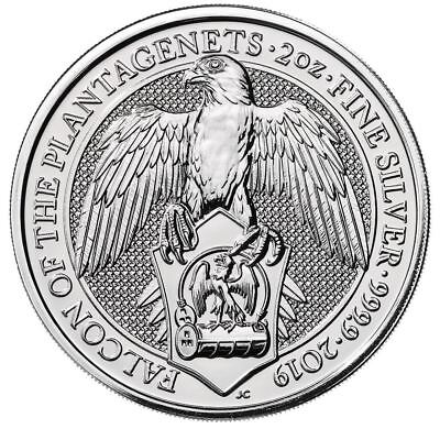2019 Queen's Beast Falcon 2 oz Silver Coin | Direct From Royal Mint Tube