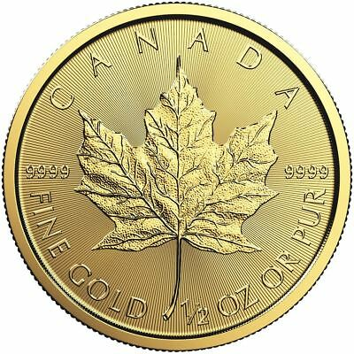 2019 1/2 oz Canadian Gold Maple Leaf Coin BU