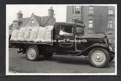 Rare Unposted RP Card-Lorry Of R Easson & Co Grain Merchants Broughty Ferry