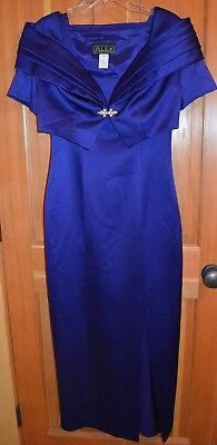 Alex Evenings Mother of the Bride Gown & Jacket Royal Blue Size 8