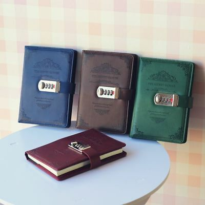 Creative Stationery Retro Notebooks Password Book With Lock Diary Business Books
