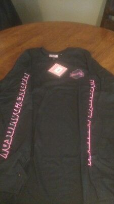 Harley Davidson Mens Pink Label Black Long Sleeve Shirt