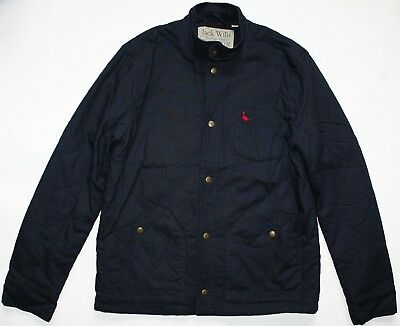 1b0ccff2be Jack Wills Quilted Pop Button Jacket - Medium Size M - Navy Blue - Mens -