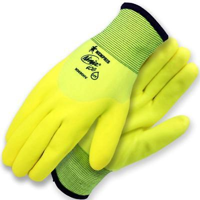 Memphis N9690HV Hi-Viz Lime Ninja Ice Insulated Cold Weather Gloves Size S-2XL
