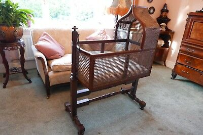 Victorian Childs 'Rocking' Crib Cradle Bed