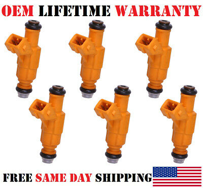 6x Fuel Injectors For 97-98 Ford Explorer Mountaineer VIN E 4.0L V6 0280155734