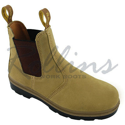 Suede Elastic Sided Work Boots - Sizes AU 3 - 15