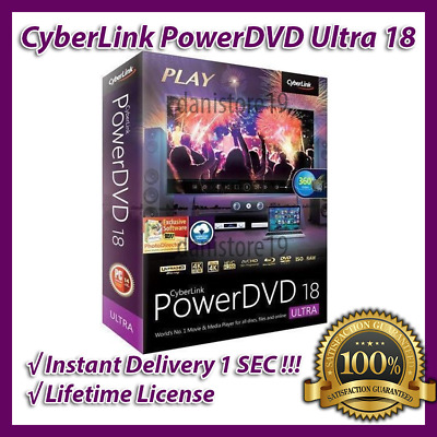📀📹 CyberLink PowerDVD 18 Ultra Edition Lifetime License 📹📀 1 SEC DELIVERY 📩