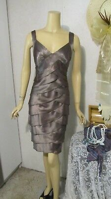Mother Of The Bride Dress by DressBarn Collections-Size 12- Iced Milk Chocolate.