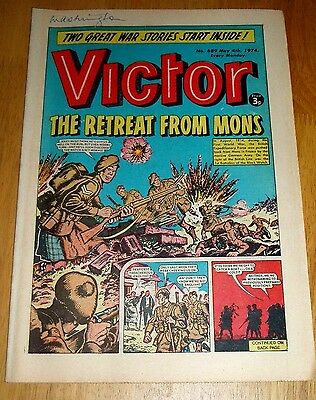 The Black Watch At River Aisne Mons  Ww2 Cover Story In Victor Comic 1974
