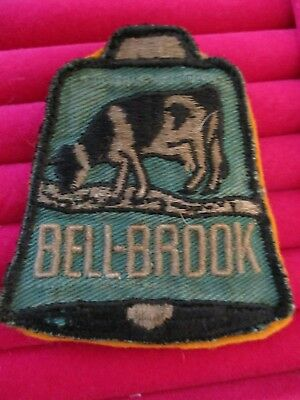 rare BELL-BROOK SAN FRANCISCO DAIRIES Advertising Patch Vintage Dairy