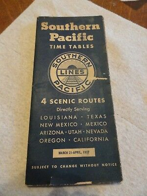 1937 Southern Pacific Railroad TimeTable