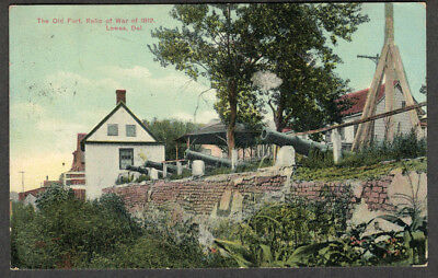Early 1910 View  The Old Fort Relic of 1812 Lewes DELAWARE