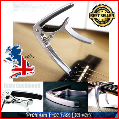 Quick Release Pro Deluxe Capo Suitable For Acoustic Electric Guitars Solid Metal