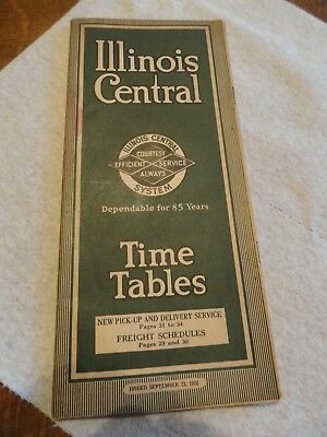 1936 Illinois Central Railroad TimeTable