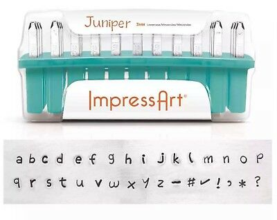Brand New ImpressArt Juniper Lowercase Individual Replacement Stamps