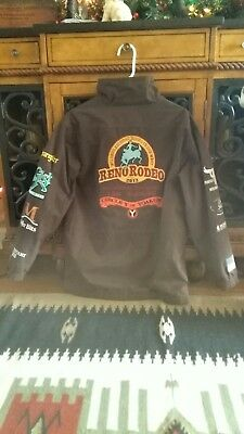 Circle Y Reno Rodeo Western Trophy Jacket Roping Horse Contestant Sponsor Coat,s