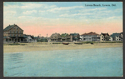 Early View 1913 Of the Lewes Beach Lewes DELAWARE