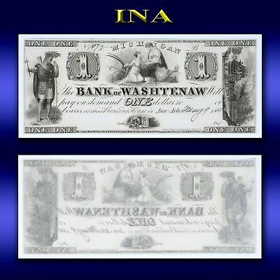Michigan Ann Arbor Bank of Washtenaw $1 Obsolete Note Choice Unc with Small Tear