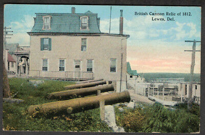 Early View  Of The British Cannon Relic of War 1812 Lewes Beach Lewes DELAWARE
