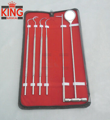 6 Pcs Equine Dental Pick Probe Scalers Veterinary Instruments