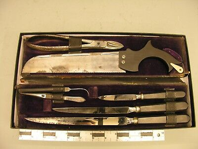 "~ 18th c Surgical Set ""Gardner Edinburgh"", Rev War, Leather-Cased Complete ~"