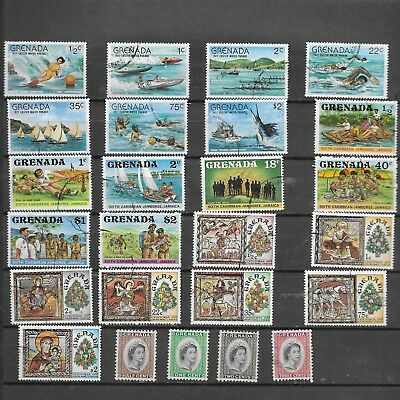 Grenada. 1977.  Selection Of 25. Mint No Gum To C/t/o .  As Per Scan