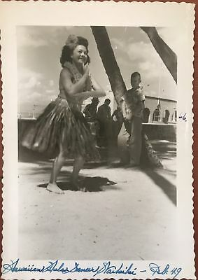 1949 Vintage Hula Girl Photo Set Of Three, Hawaii
