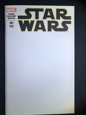 "Star Wars #1 Variant ""M"" Blank (March 2015, Marvel)"
