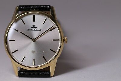 Vintage Jaeger Lecoultre 18k Solid Gold Watch Round Cal 895 Antique Used Rare