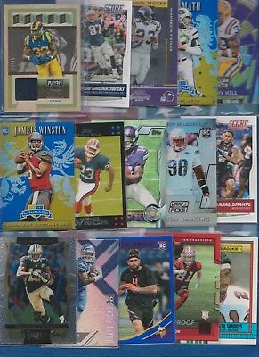 100+ FOOTBALL CARD LOT - Autos Game-Used RC +MORE   *All Top Stars and Rookies*