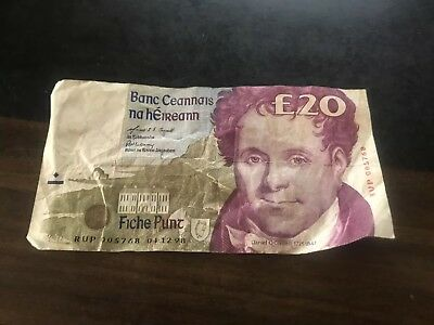 Irish £20 Pounds Central Bank Of Ireland Replacement Rup Rare Banknote