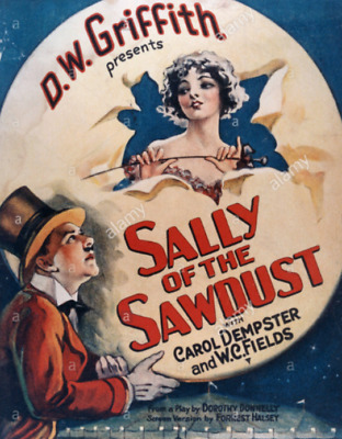 Standard 8mm Feature Film: SALLY OF THE SAWDUST (1925) Comedy - W.C. FIELDS