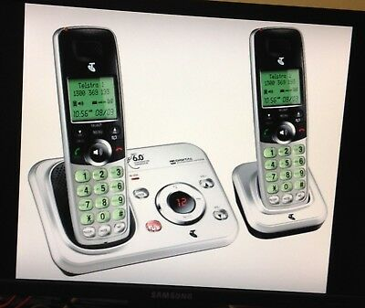 Telstra 9450 Twin DECT 6.0 Cordless Phone (Used)
