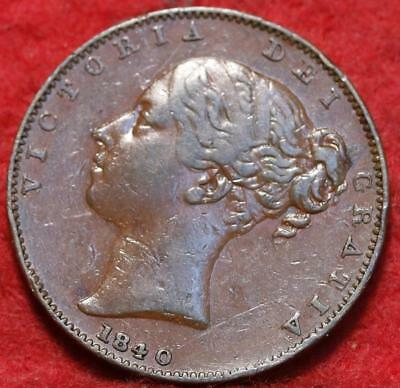 1840 Great Britain 1 Farthing Foreign Coin