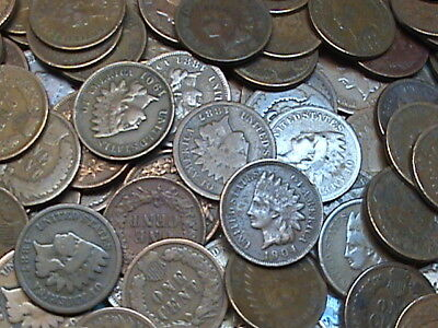 ☆ Indian Head Cent ☆ One (1) Copper Penny ☆ From Estate Hoard ☆1859-1909☆