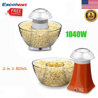 Hot Air-pop Popcorn Popper Maker Machine Home Party Theater with Measuring Cup