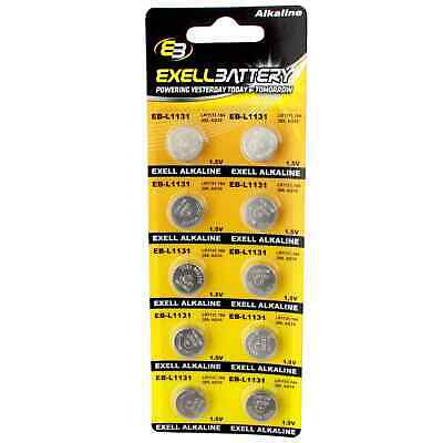10pcs Exell Size LR54 V389 389 AG10 L1131 Alkaline Watch Battery FAST USA SHIP