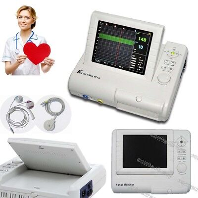 Hot Fetal Monitor Prenatal Heart FHR TOCO Fetal Movement Ultrasound,twin probe