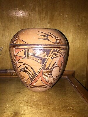 Hopi pottery unsigned. Hand coiled. Early 1900's.